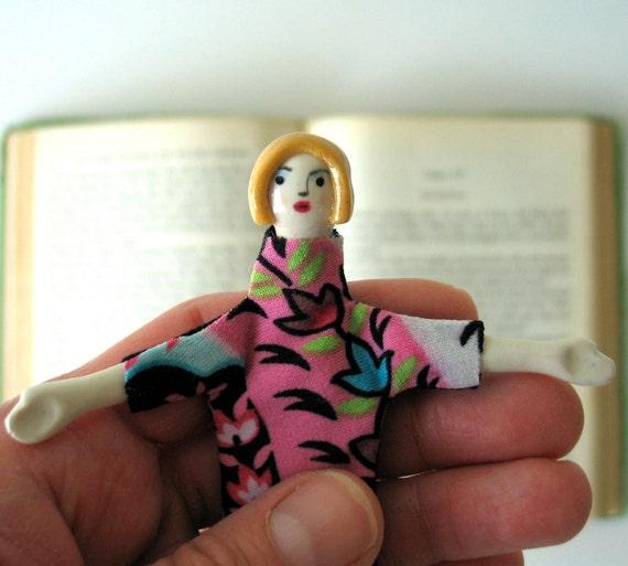 ON SALE/ OOAK/ Handmade Art Doll / Fleurette