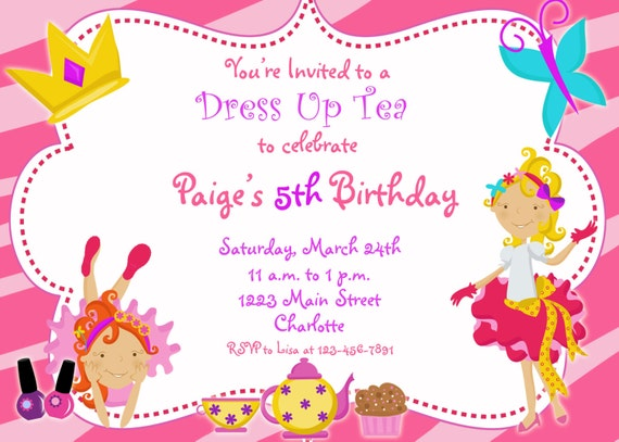 Dress Up Party Birthday Invitation funky by TheButterflyPress