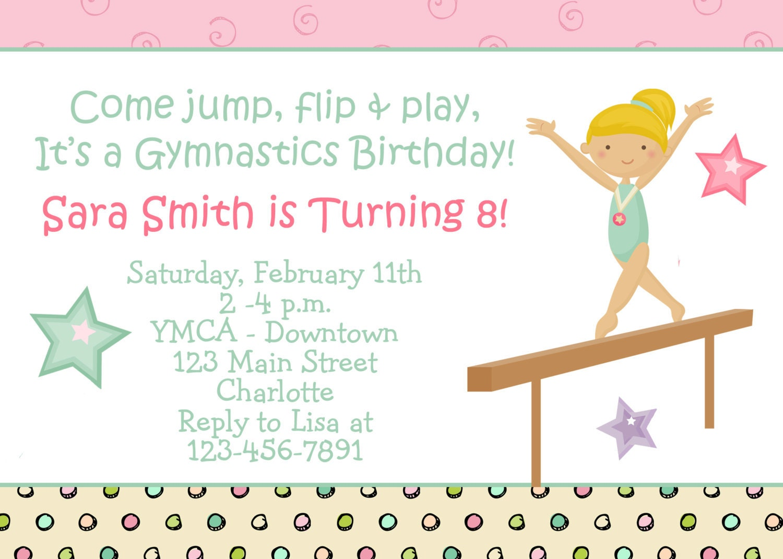 Gymnastics Birthday Invitations as nice invitations design