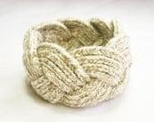 Recycled Cotton Dinara Braid Unisex Beige Cuff
