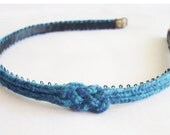 BlueTeal Recycled Cotton Knotted Headband