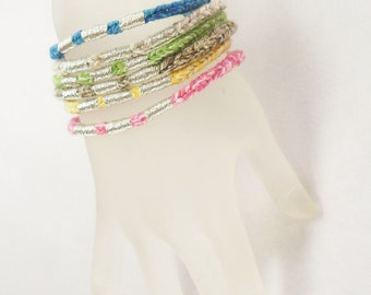 3 Recycled Cotton Vrlika Bracelets SPECIAL - Choose your Colors