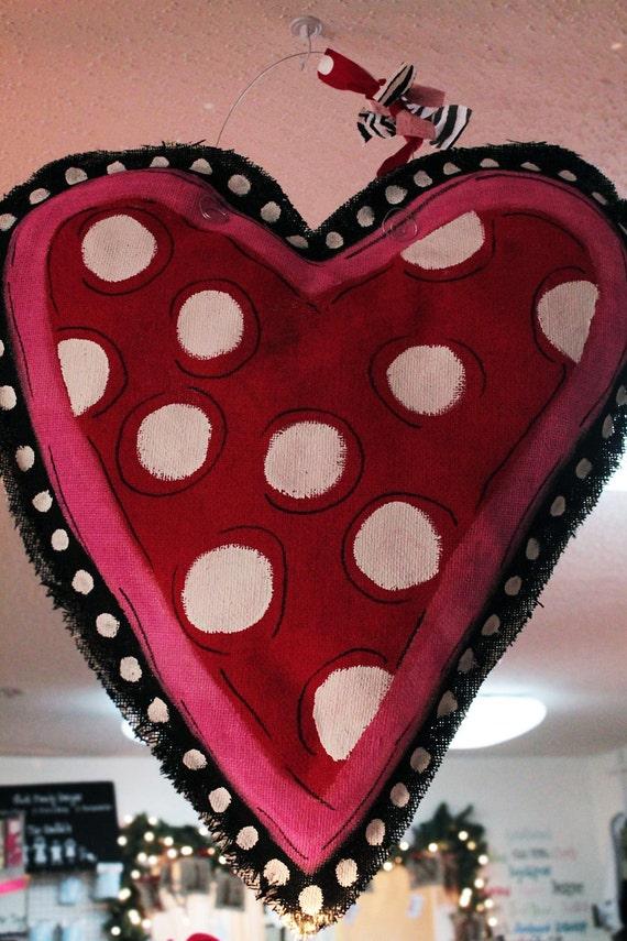 Be Mine Valentine Burlap Door Hanger Home Decor