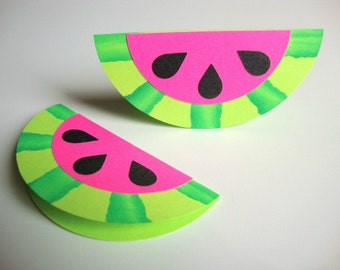 Watermelon Mini Cards Gift Tags Summertime Picnic