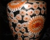 Beautiful Chrysanthemum Vase Made in Japan
