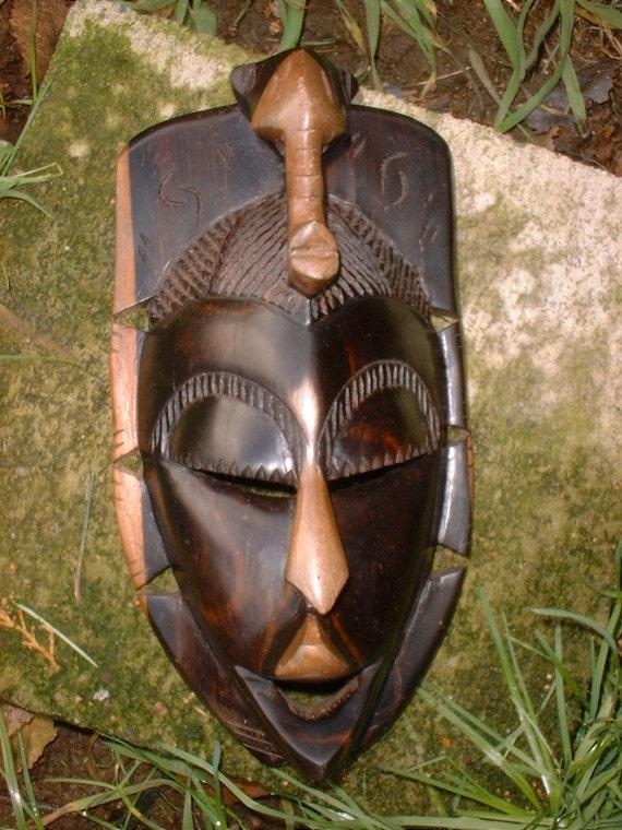 Vintage Hardwood African Mask REDUCED