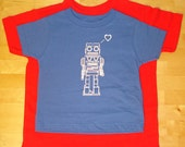 Robot Love Kid's Tee (Blue or Red)