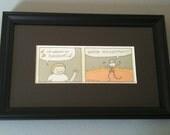 Walkin' on Sunshine - Framed Print of Original Cartoon by Christiann MacAuley