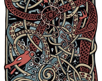 Battle for Yggdrasil - Original Art - 8.5X11 Art Print