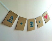Wedding Banner PERFECT EQUATION Engagement Photo Prop on Kraft Paper