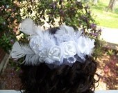 Wedding Hair Piece with white roses