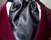 Cravat, In Black Satin or Ascot Mens Victorian Tie