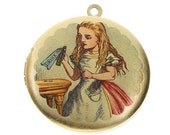 WHOLESALE - Altered Art Photo Locket - Alice in Wonderland DRINK ME - Flat Rate Shipping