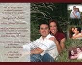 Bordered Simple Wedding Invitation - Multiple Photos - Digital File
