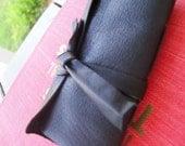 Blank Black Mini Leather Book