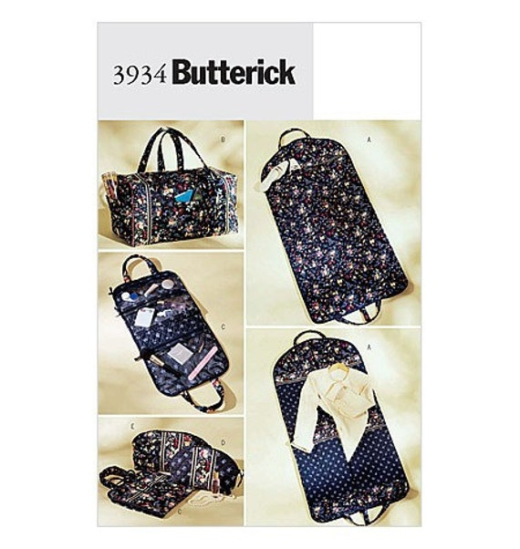 Butterick 3934 sewing pattern travel bags OOP