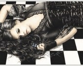 Dark Hope Art Print Glossy Blue Butterfly Fantasy Emo Goth Girl Zindy Nielsen