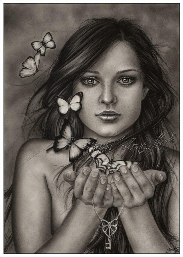 It is a photo of Fan Drawing Of Beautiful Girls