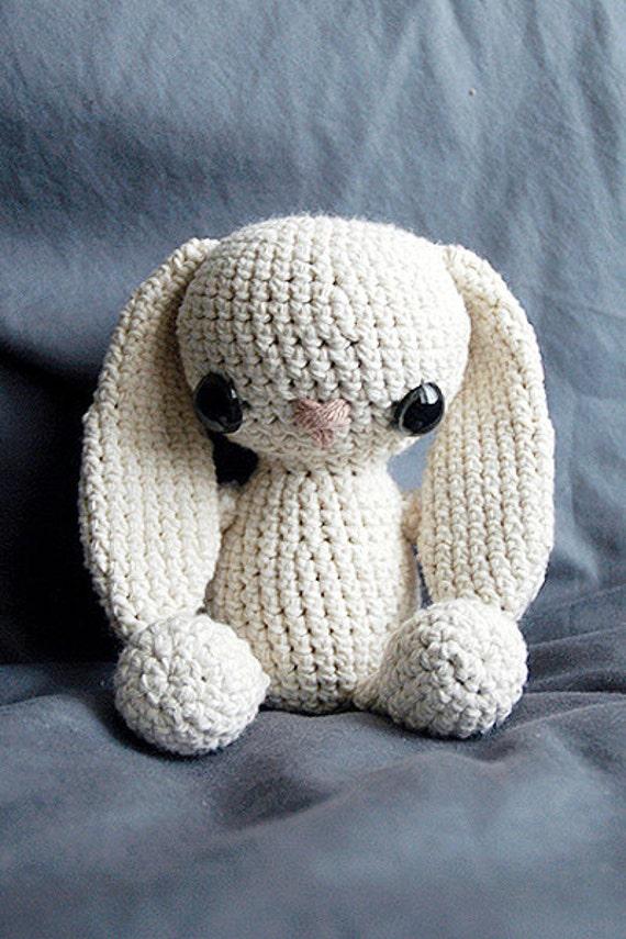 Etsy Amigurumi Bunny : PATTERN Crochet Bunny Amigurumi Stuffed Toy by LadyLilliput