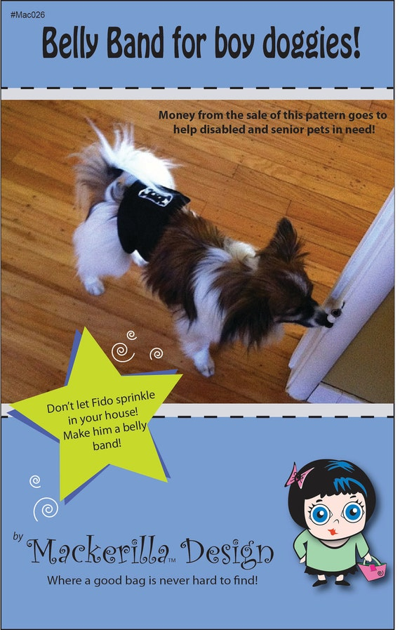 Belly band for boy dog sewing pattern PDF