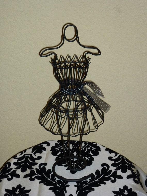 SALE - Black Polka Dots Mannequin Dress Form Display