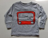 LONG SLEEVE Etch A Sketch I LOVE YOU Graphic T Shirt Available in INFANT or TODDLER  t shirt tshirt MANY COLORS AVAILABLE
