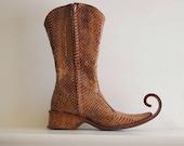 Vintage Snakeskin Elf Boots
