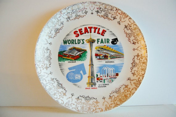 Vintage Seattle Worlds Fair 1962 Collectible Plate