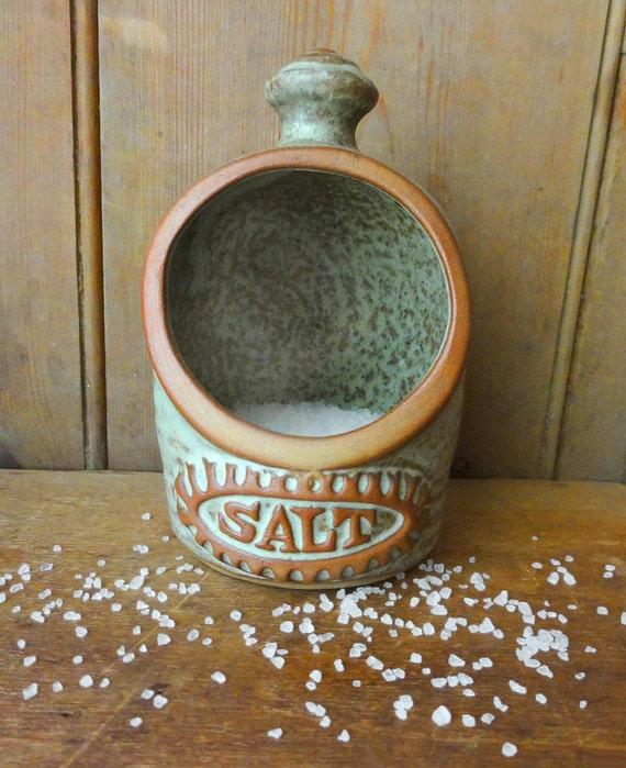 Vintage Salt Pig or Salt Cellar English Earthenware