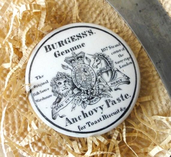 Antique Anchovy Paste Pot Lid
