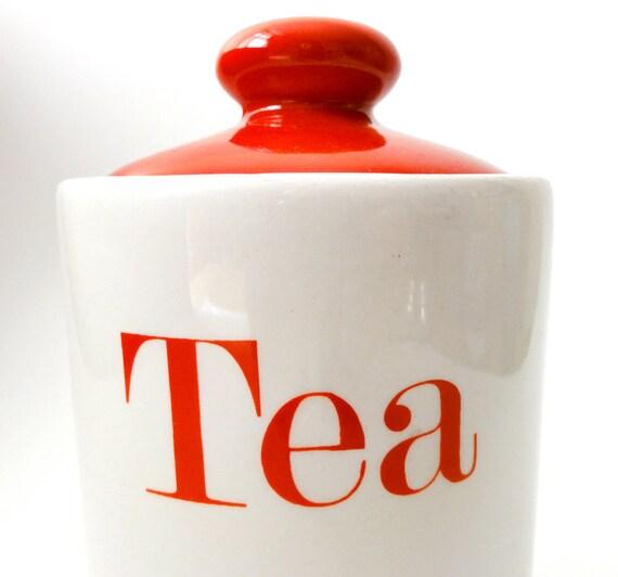 Vintage Tea Storage Jar Melba Kitchenware
