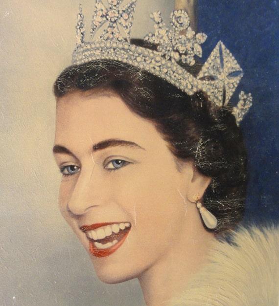 Vintage Queen Elizabeth Coronation Print