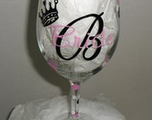 Custom Bride's Wine Glass Personalized with Name and Special Date