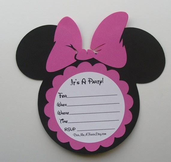 Minnie Mouse Head Invitation Template was amazing invitation template
