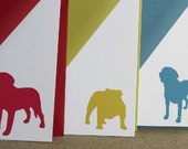 Dog Silhouette- set of 20 personalized stationery cards with matching envelopes