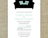 Cuddle Couch Wedding Invitation SAMPLE ONLY
