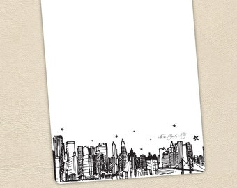 New York City skyline stationery set of 20 cards and envelopes, perfect for thank you cards!