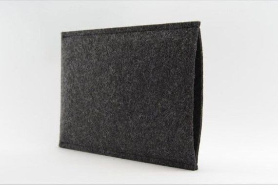 Kindle Sleeve - Wool Felt Cover sizes for Kindle Voyage, Kindle Paperwhite, Kindle, in Wool Felt Charcoal or Grey