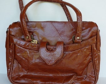 Vintage Genuine Leather Brown Purse