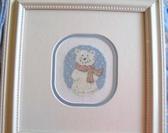 Snow Bear Cross Stitch