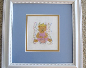Birthday Bear Cross Stitch