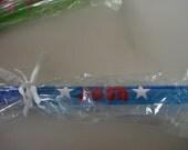 Blue Bubble Wand Personalized with Red Name