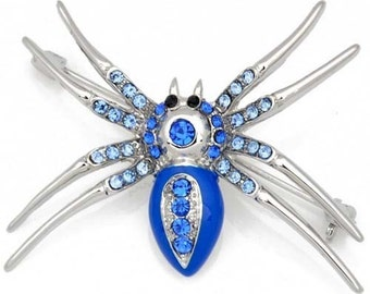 Sapphire Belly Spider Pin Brooch 1001093