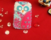 handmade cell phone cozy choose your  little owl