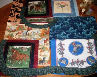 HORSE FABRIC Cotton print sewing gift ideas for pillows quilting home decor craft supplies