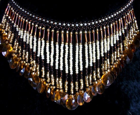 Beadwork Bib Necklace for Women Bead Necklaces