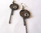 Reserved for Antonis P-Similar Industrial Steampunk Empty Watch Plate earrings FREE shipping RECYCLE