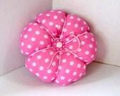 Pincushion Magenta Polka Dot - Over-Sized Pincushion