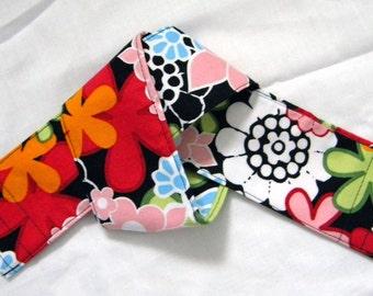 DSLR Camera Strap Cover Slipcover, Black Floral