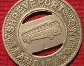 Vintage Shreveport Louisiana Transit Bus Token Student